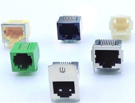 ورودی جانبی PCB Jack Latch Down نوع TH / SMT - ورودی جانبی PCB Jack