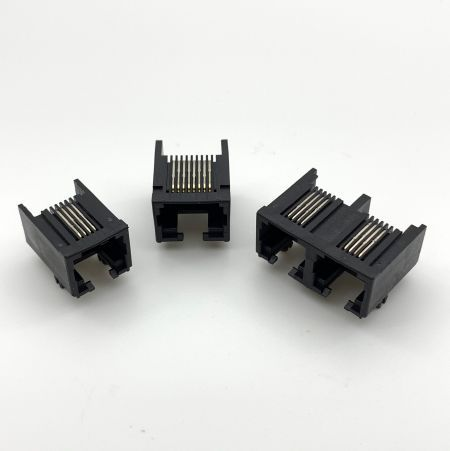 Side Entry PCB Jack Latch Down (Open Top and Back) - Side Entry PCB Jack