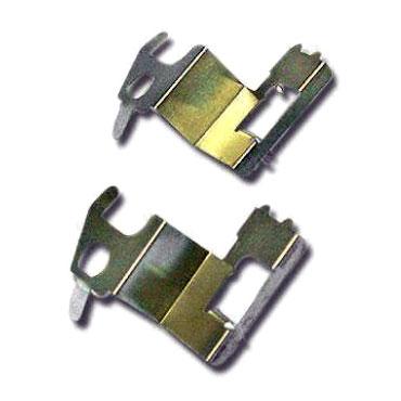Pièces en métal estampées avec broches de plomb et borne - Pièces en métal estampées avec broches de plomb et borne