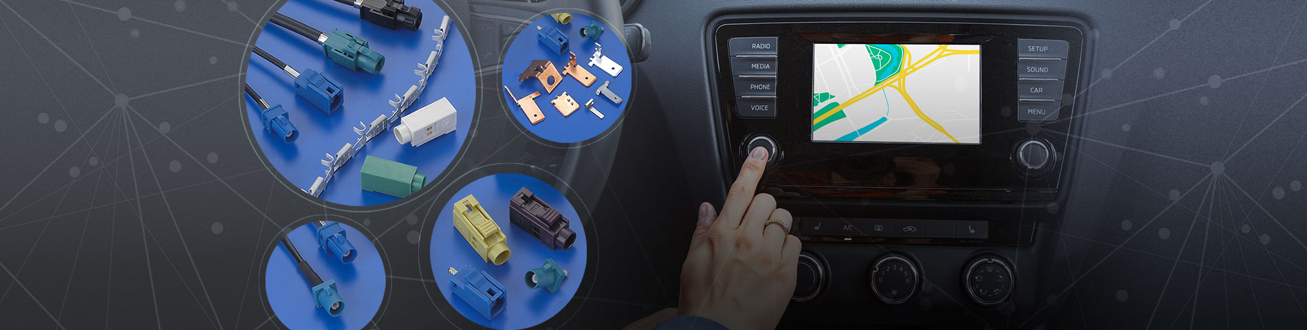 Connecteur automobile    APPLICATION