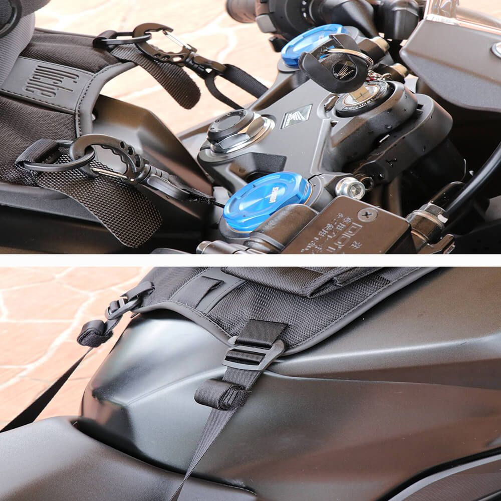 The tank pad is designed with strap mount and has details to take care of users need
