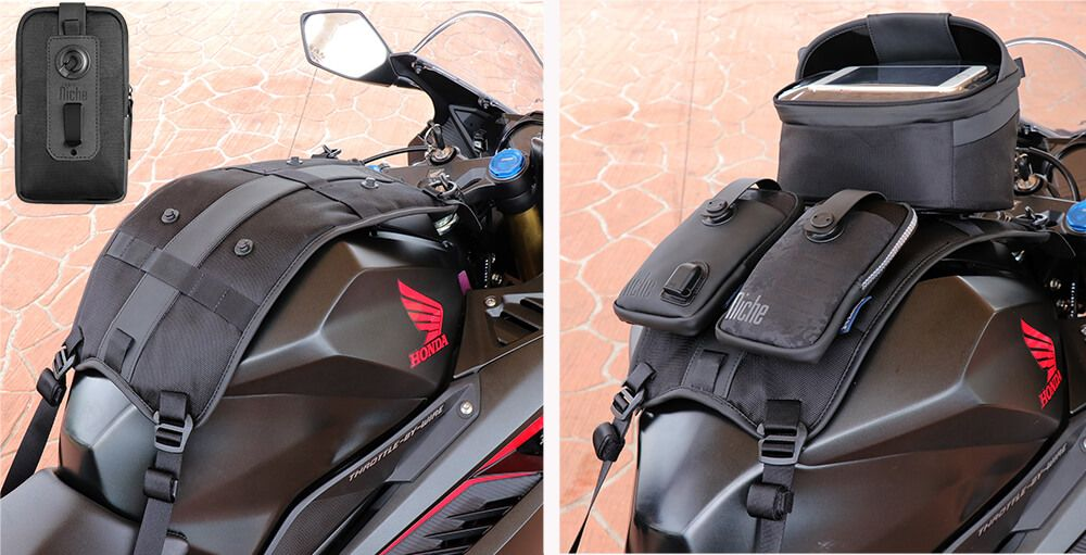 Tank bag with patented FastRelis System