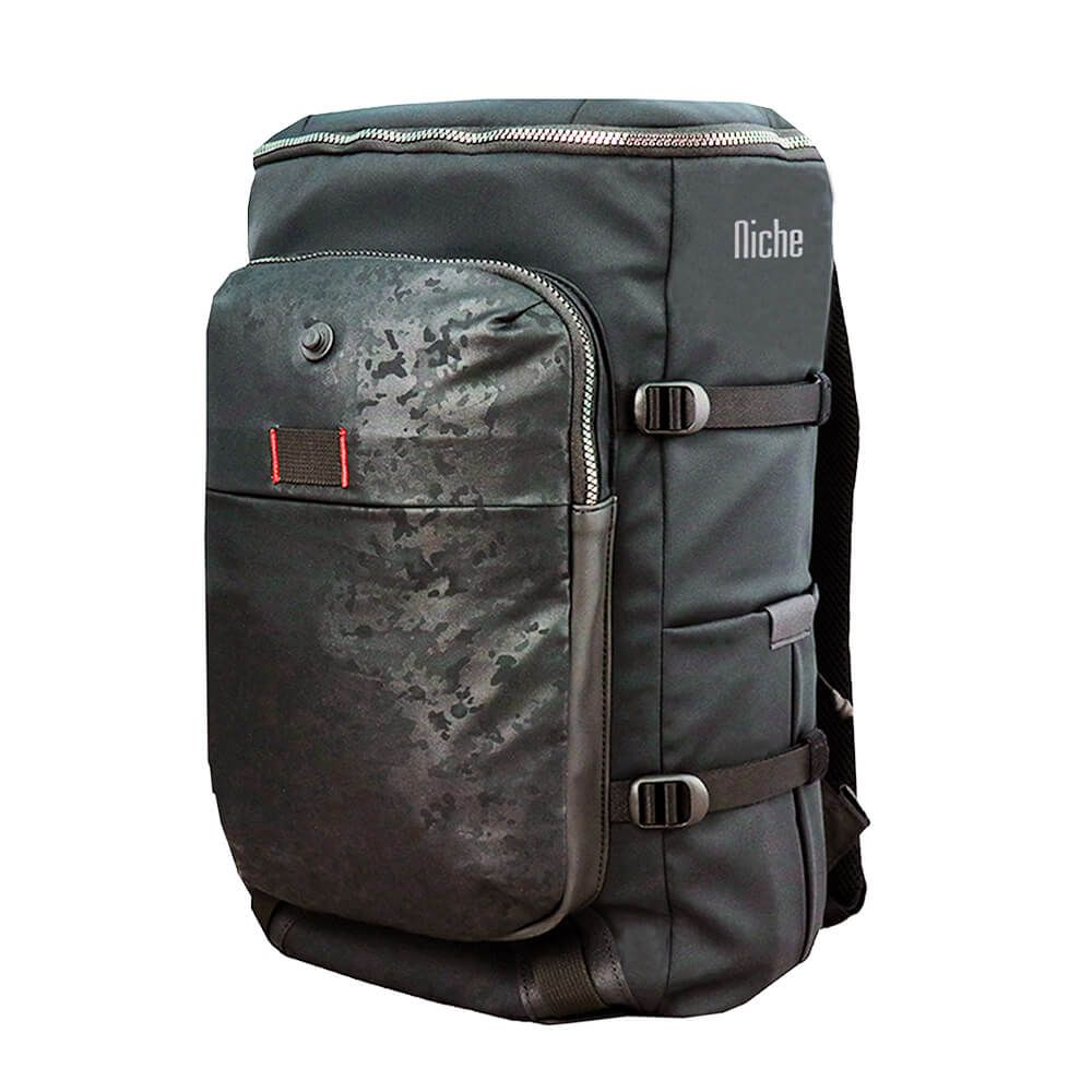 Backpack with Full Open Top Lid and the Magnet Buckle for Laptop Sleeve and for Mobile Pouch, Ultra Light Weight Fabric with Great Water Repellent