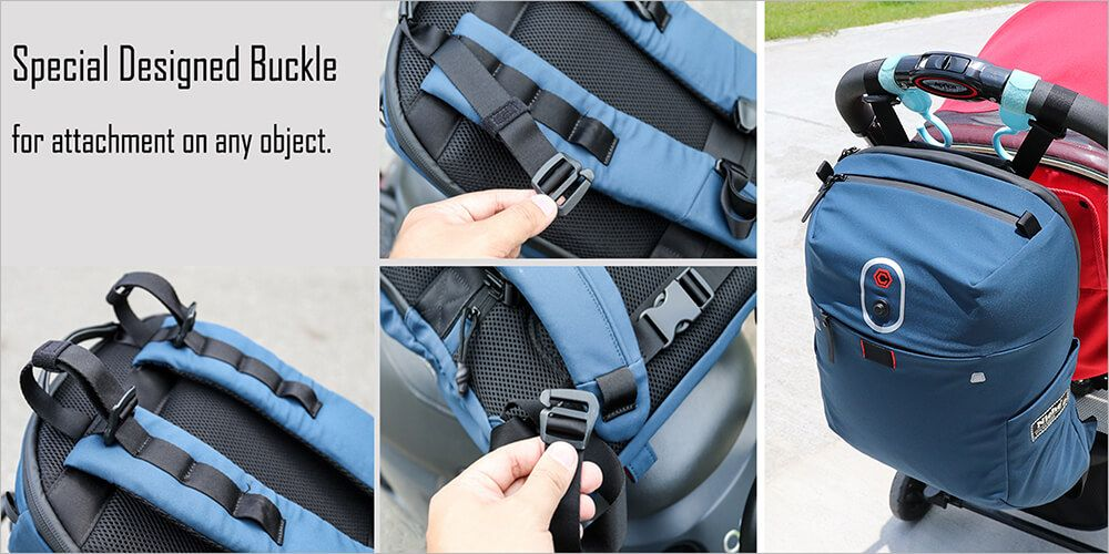 Special Hooks on the shoulders of the backpack