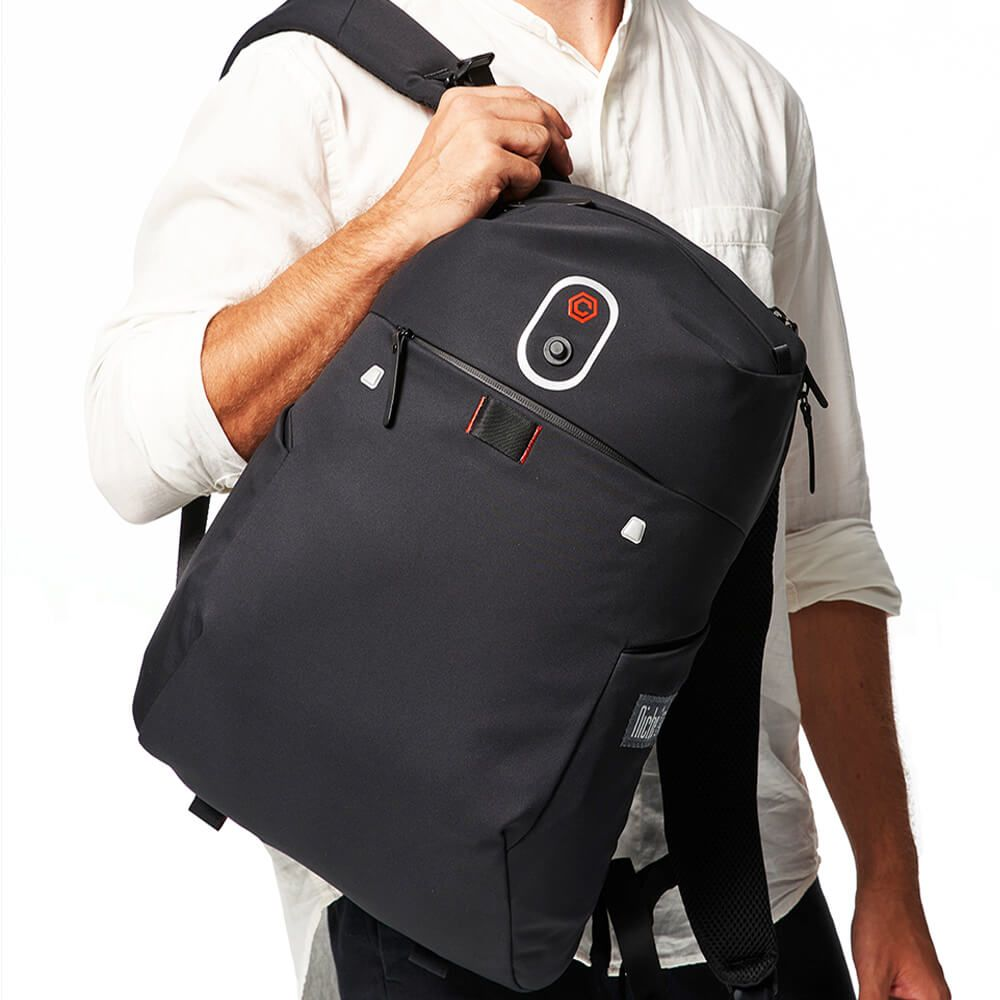 Backpack with the Magnet Buckle for Laptop Sleeve and for Mobile Pouch, Ultra Light Weight Fabric with Great Water Repellent