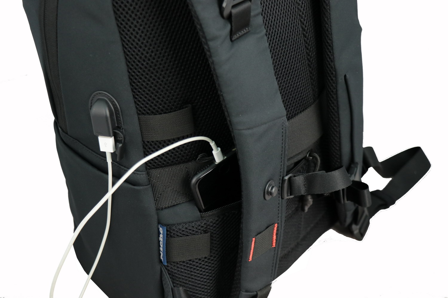 Niche backpack with USB charger
