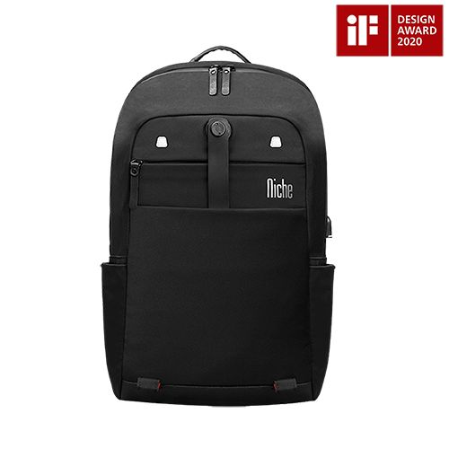 Backpack Won iF DESIGN AWARD 2020, has the Magnet Buckle for Laptop Sleeve and for Mobile Pouch, Ultra Light Weight Fabric with Great Water Repellent