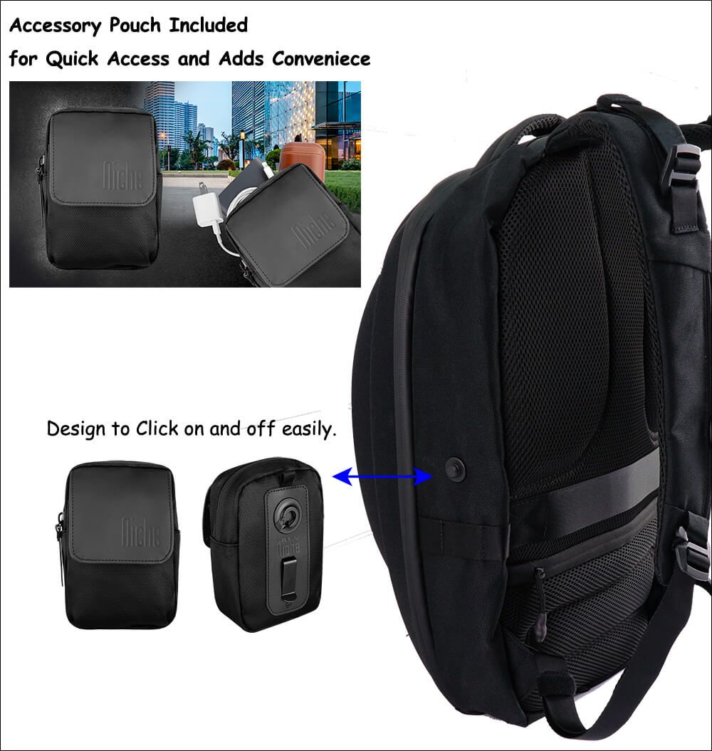 Backpack with patented magnetic buckle
