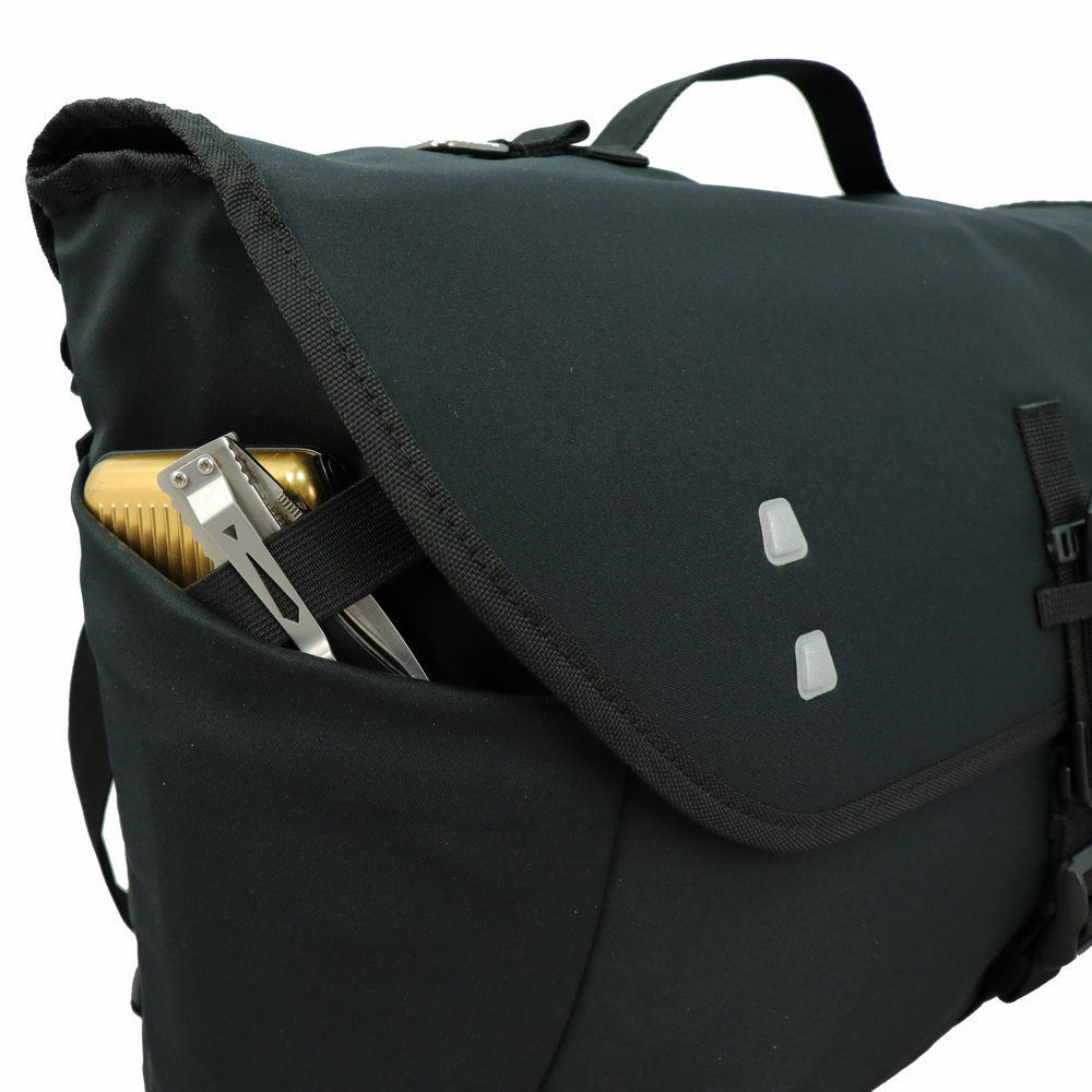 Niche durable backpack and reflective badges