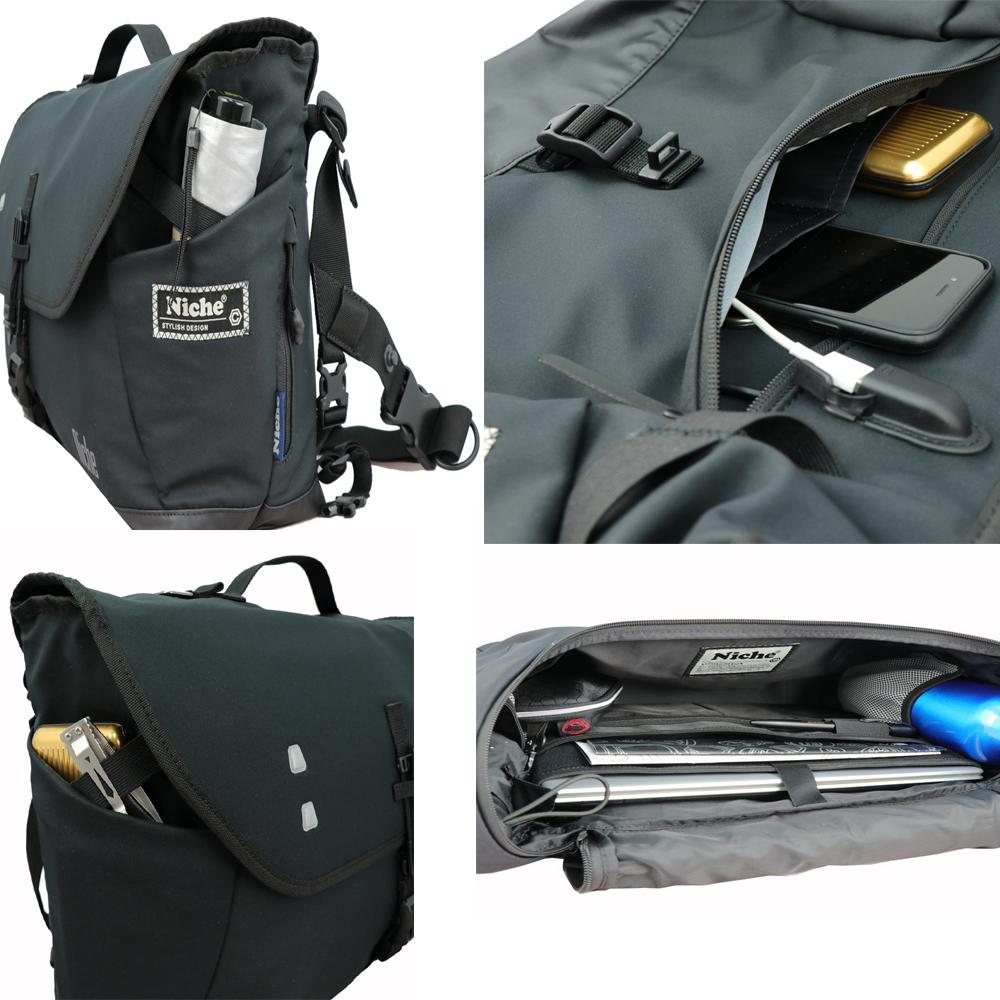 Niche backpack pockets