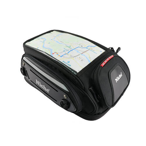 Standard Size Tank Bag with Magnet Pads and Webbing Straps Attachment, Expandable