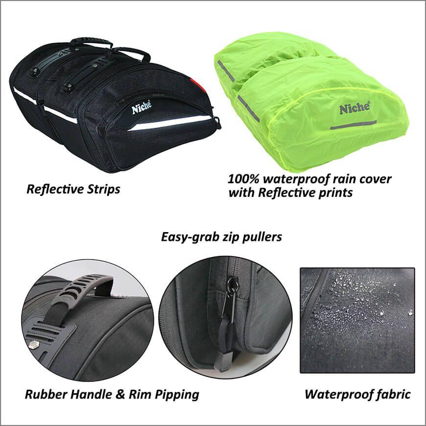 Прочные водонепроницаемые седельные сумки для мотоциклов со светоотражающей защитой
