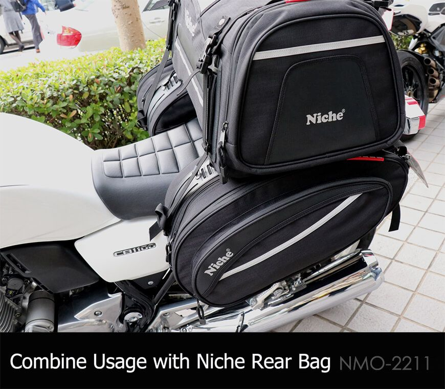 Saddle bag with Touring Rear Bag