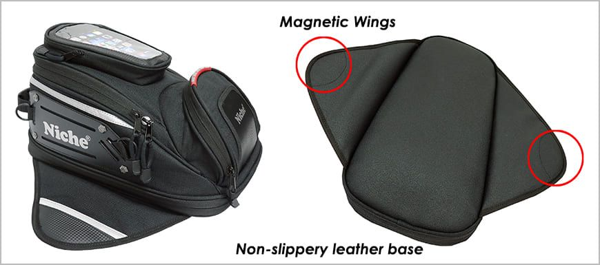 Solid Construction, The tank bag is made for your Convenience