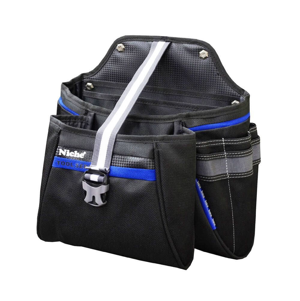 Opened Double Layers Tool Bag with magnet, Multiple Carry Ways
