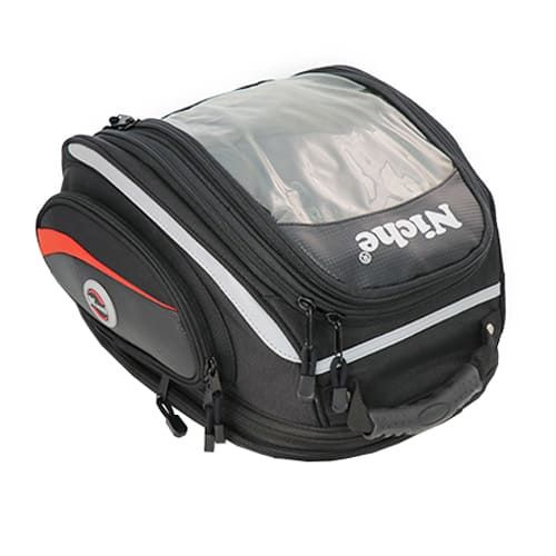 Tank Bag with 3-ways attachments, detachable and convert to a backpack, Expandable, Independent Map Window