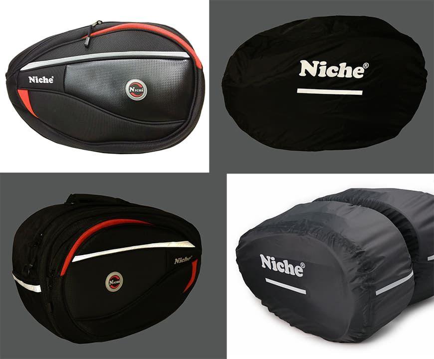Светоотражающие полосы безопасности на подседельной сумке и дождевике