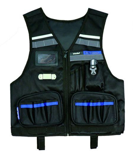 Engineer Tool Vest with Multiple Tool Pockets, Zipper Opening, Adjustable Waist