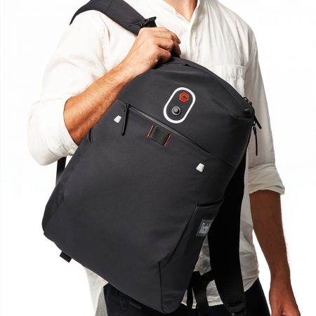 Backpack with the Magnet Buckle for Laptop Sleeve and Mobile Pouch