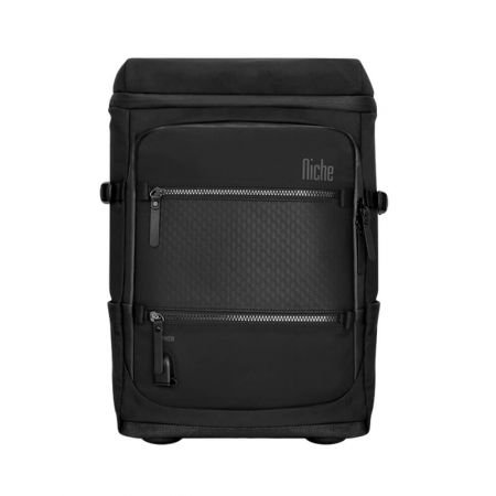 Business Travel Backpack Open Top, Magnet Buckle for Laptop Sleeve and Mobile Pouch
