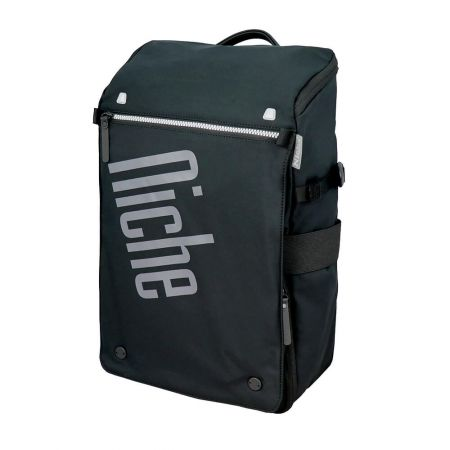Casual Backpack with Quick Access Pocket and Removable Pouch, Magnet Buckle for Laptop Sleeve and Mobile Pouch