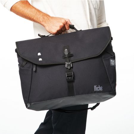 Messenger Bag with Anti-Theft Tactical Buckle Triangle Crossover Carry Strap