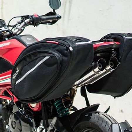 Motorcykel i rund form Sidetasker
