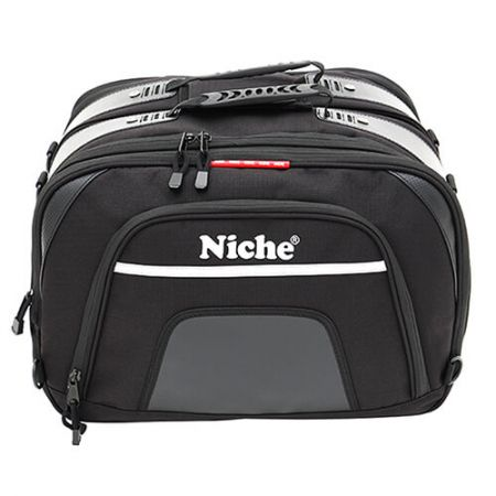 Commuter Saddle bag, spacious main compartment large enough to pack 15.6 inches laptop and other equipments for business meeting.