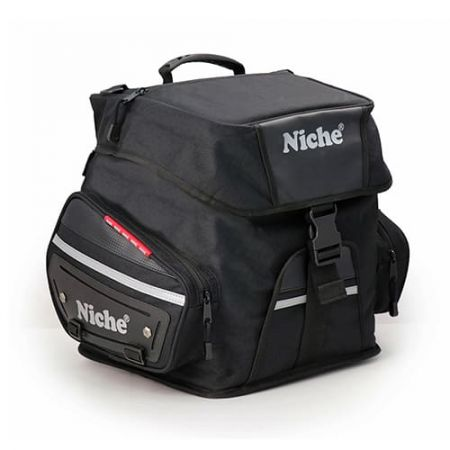 Roll-Top with Flap Rear Helmet Bag for Motorcycle