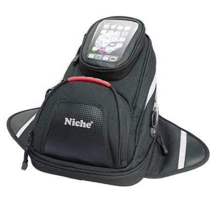 Небольшой Сумка на бак с магнитом и чехлом для смартфона, расширяемый