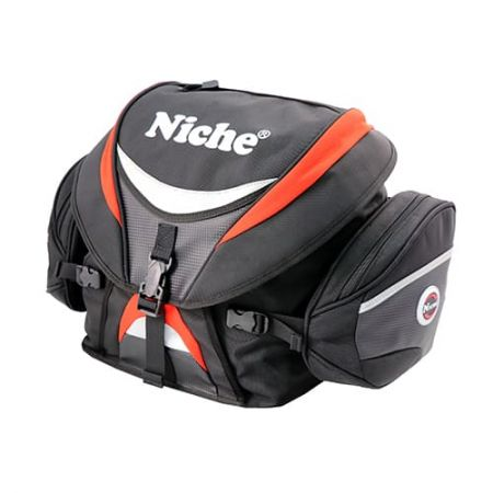 Roll-Top with Cover Motorcycle Rear Bag