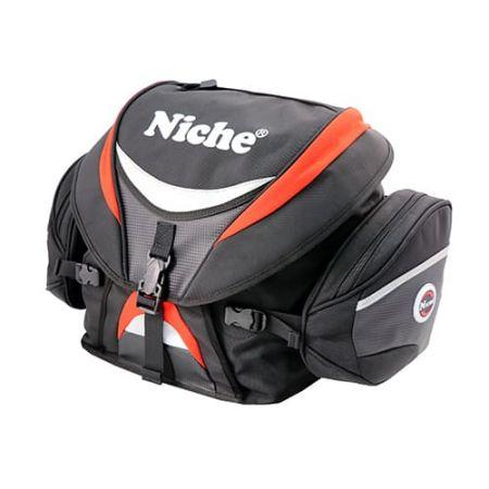 Roll-Top с крышкой Задняя сумка для мотоцикла, со съемными двумя боковыми карманами