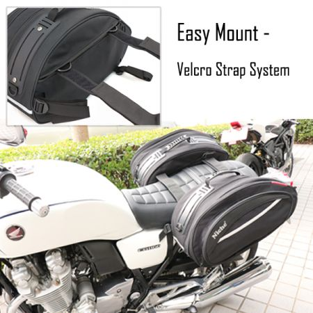 Saddle Bags & Tank Bags Built with Quick Mount and On-the-go Design