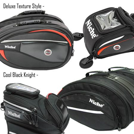 Two design collections of Motorcycle Luggage for selection