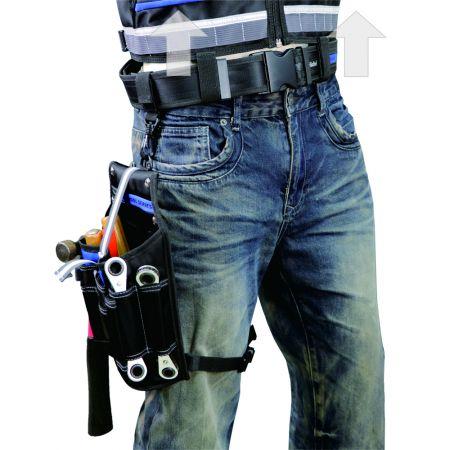 Cinturón de cintura, funda para herramientas, integración de chaleco para levantar peso