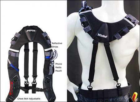 Niche Adjustable Safety Tool Suspenders Construction Grade Carpenter Suspension Rig