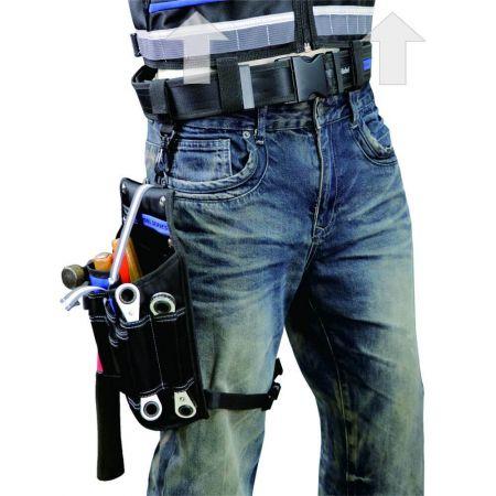Bæltetaske til værktøjsvest har den bedste vægtfordeling på kroppen