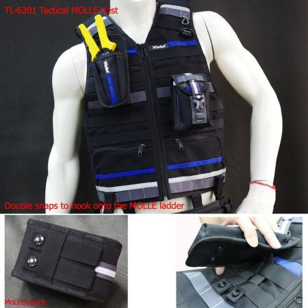 MOLLE vest and MOLLE pouch