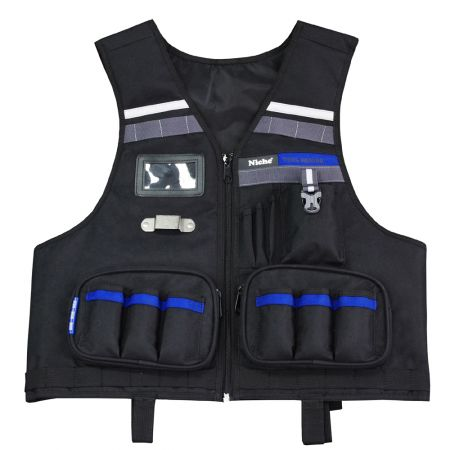 Heavy Duty Professional Tool Vest with Multiple Organizer Pockets | Work Apron to Attach Hand Tools and Tool Bags | Adjustable Water-repellent Safety Garment