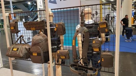 Whole tool vest + tool bag + tool pouch collection showcases at A+A 2019
