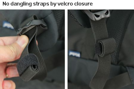 Backpack has no more dangling straps