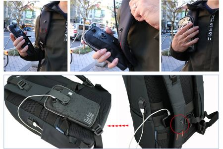 Backpack built with Proprietary magnetic buckle system