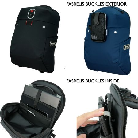 Patented Magnetic Buckle built in for Notebook Sleeve, Phone Pouch Attachment