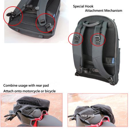 Special Hook Attachment Mechanism on Motorcycle