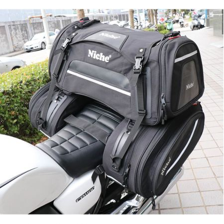 Waterproof Motorcycle Rear Seat pack, Saddle bag combination Rear bag for long ride.