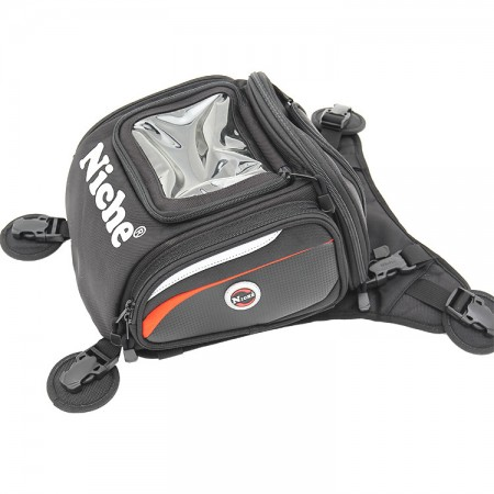 Motorcycle Tank Bag with GPS Stand-Up Pocket
