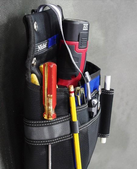 múltiples bolsillos y funda para una variedad de herramientas prácticas