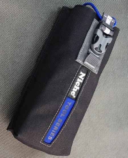 Bolsa de herramientas parlante para caminar de 7.5 pulgadas con cordón elástico, sistema MOLLE, múltiples formas de transporte