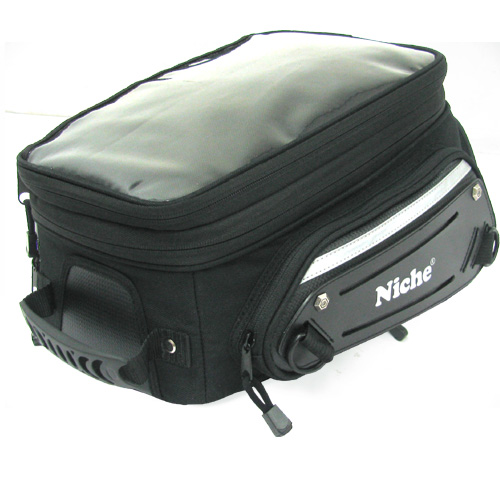 Niche motorcycle tank bag is an expandable soft bag for bike