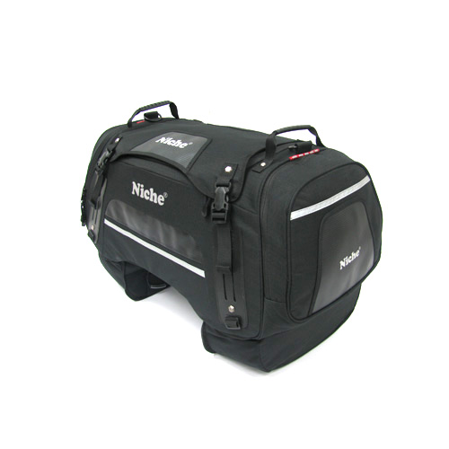 Niche U-shape rear bag has large storage space for travel